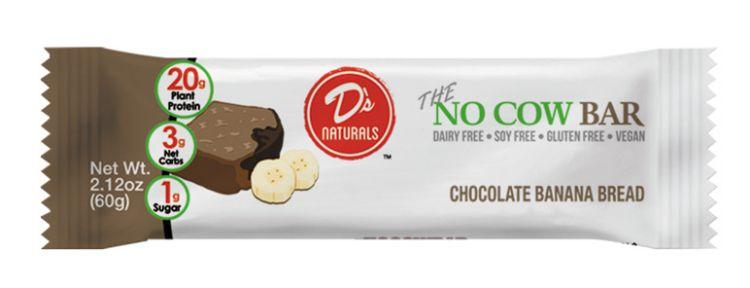 DN NO COW BAR 12/2.12oz CHOCOLATE BANANA BREAD