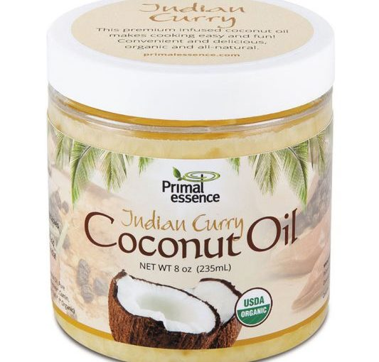 PE ORG COCONUT OIL 8oz INFUSED INDIAN CURRY