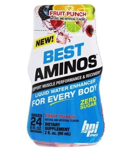 BPI BEST AMINOS 6/2oz FRUIT PUNCH 24srv