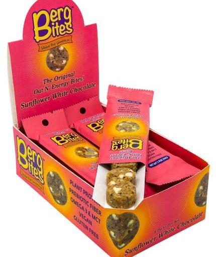 FFF BERG BITES 8/43g SUNFLOWER WHITE CHOCOLATE