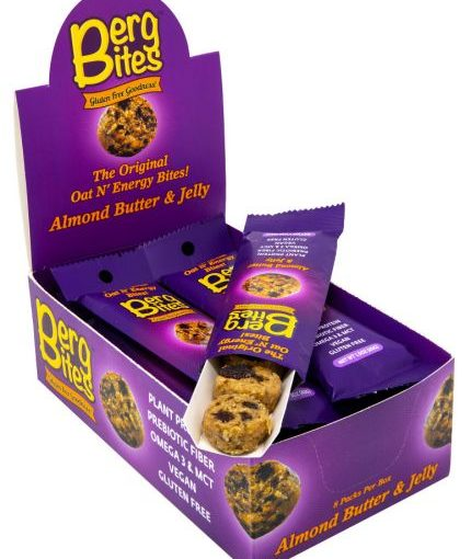 FFF BERG BITES 8/43g ALMOND BUTTER AND JELLY