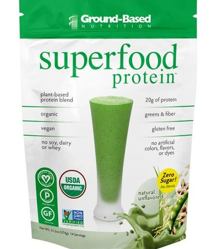 GB SUPERFOOD PROTEIN 1lb NATURAL 14 SERVINGS BAG