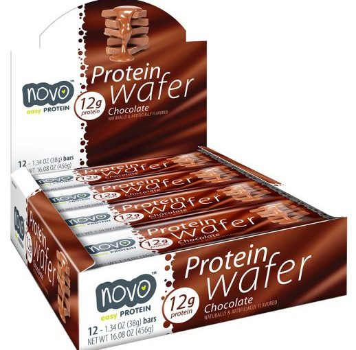NVO PROTEIN WAFER 12/38g CHOCOLATE
