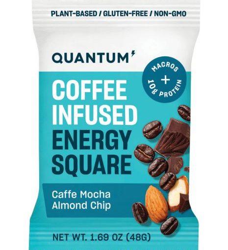 QTM ENERGY SQUARES 10/48g CAFFE MOCHA ALMOND CHIP