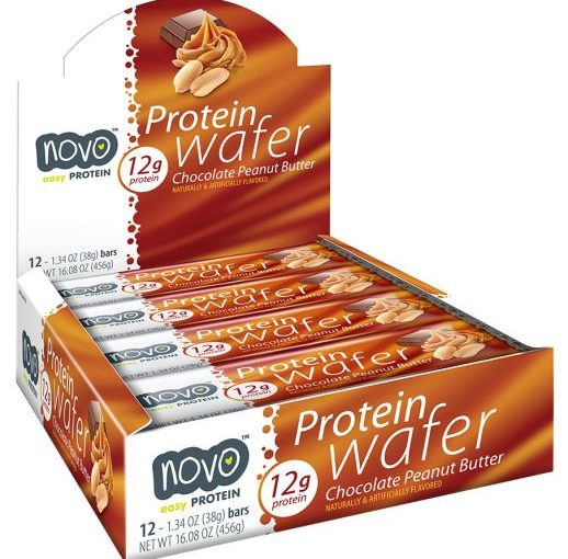 NVO PROTEIN WAFER 12/38g PEANUT BUTTER