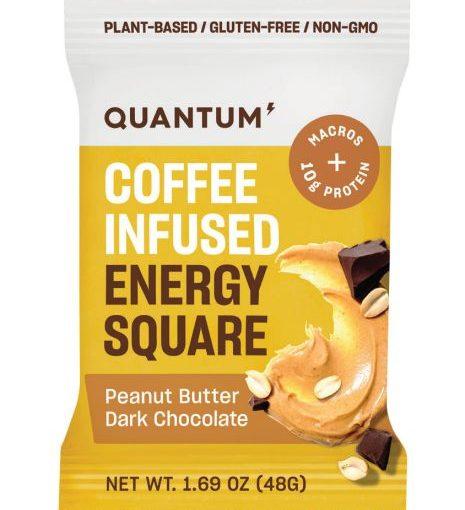 QTM ENERGY SQUARES 10/48g PEANUT BUTTER DARK CHOCOLATE