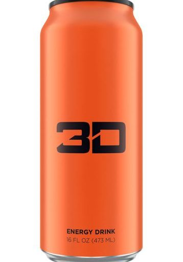 3D ENERGY DRINK 12/16oz ORANGE