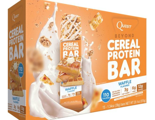 QUEST CEREAL BAR 15/1.34oz WAFFLE